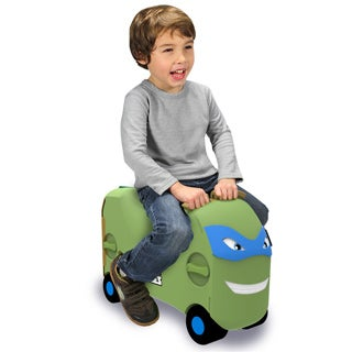 VRUM TMNT Leonardo Carry-on Ride Along Kid's Suitcase