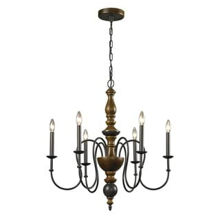 French Country 6-light Vintage Rust Chandelier