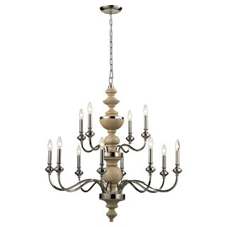 Capital Lighting Chateau Collection 4 Light French Oak Chandelier 17344604 Overstock Com