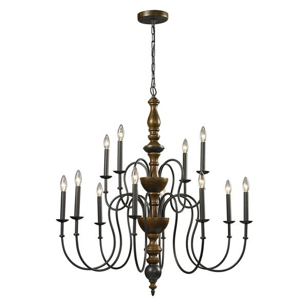french country 12 light vintage rust chandelier 16269762