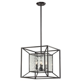 HGTV Home Cubix 4-light Oiled Bronze Pendant