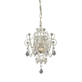 Elise 1-light Antique White Mini-chandelier
