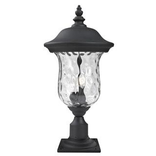 Z-Lite Waterglass Armstrong Outdoor Black/ Clear 3-light Post Mount