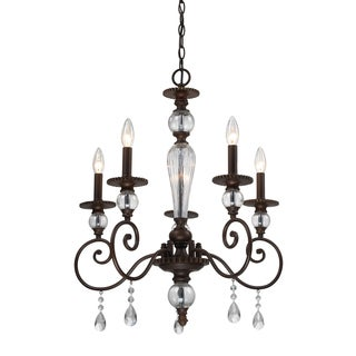 Trier 5-light Aged Bronze Chandelier
