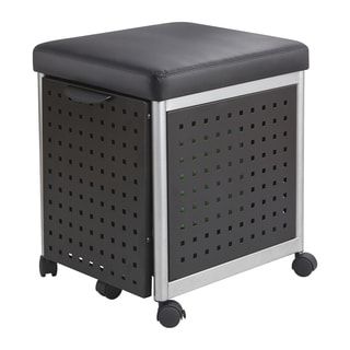 Scoot Mobile Filing Cabinet with Cushioned Seat