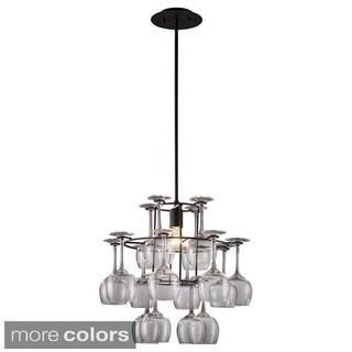 Vintage 1-light 3-tiered Glass Chandelier