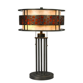 Z-Lite Oak Park 2-light Java Bronze Table Lamp