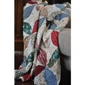 Leaf Design Quilted Throw