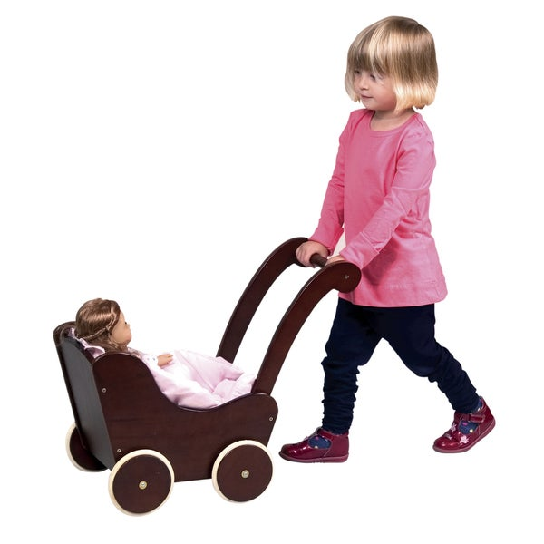 Guidecraft Espresso Doll Buggy