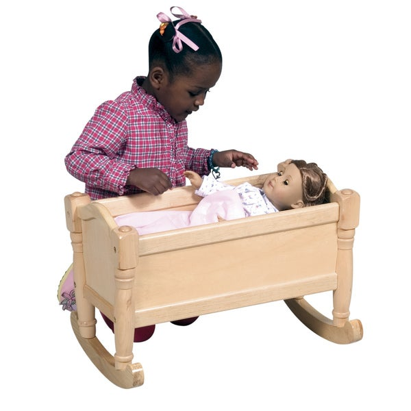 Guidecraft Natural Doll Cradle