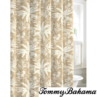 Tommy Bahama Bayloon Breeze Tan Cotton Shower Curtain Overstock Shopping Great Deals On