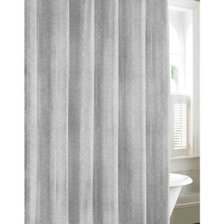 Tommy Bahama Batik Medallion Gray Cotton Shower Curtain