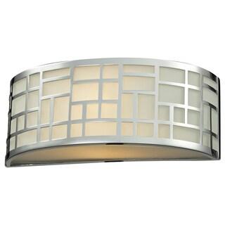 Z-Lite Elea 1-light Chrome/ Matte Opal Glass Wall Sconce
