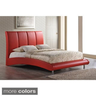 Arched Base Red Queen Bed