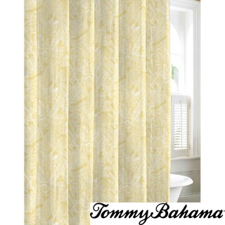 Tommy Bahama Mauna Lani Yellow Cotton Shower Curtain Overstock Shopping Great Deals On