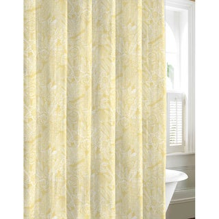 Tommy Bahama Mauna Lani Yellow Cotton Shower Curtain