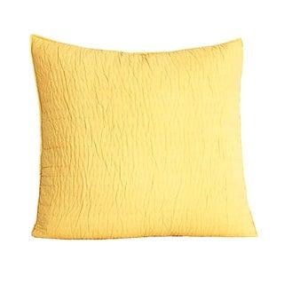 Brighton Yellow Quilted Cotton Sham