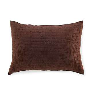 Brighton Brown Quilted Cotton Sham