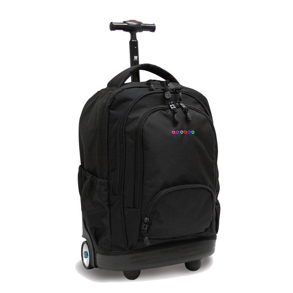 J World New York Black Sunbeam 18-inch Rolling Backpack