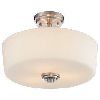Z-Lite Lamina Brushed Nickel 3-light Semi-flush Mount