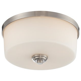 Z-Lite Lamina Brushed Nickel 3-light Flush-mount Light