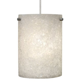 Calico 1-light Crushed Glass Cylinder Pendant