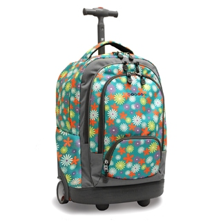 J World New York Spring Sunbeam 18-inch Rolling Laptop Backpack