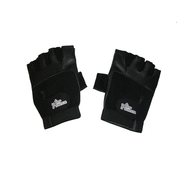 Power Up Weightlifter Fingerless Leather Gloves 13034003