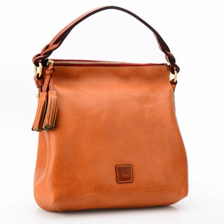 Dooney & Bourke Florentine Natural Leather Twist-strap Hobo Bag