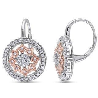 Miadora 14k Two-tone Gold 1/2ct TDW Diamond Earrings (G-H, SI1-SI2)