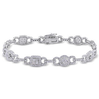 Miadora 14k White Gold 2 3/8ct TDW Diamond Bracelet (G-H, I1-I2)