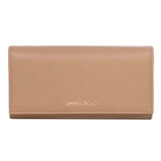 Jimmy Choo 'Nikita' Nude Grainy Calf Leather Wallet