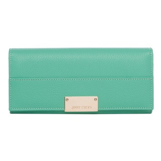 Jimmy Choo 'Reza' Peppermint Grainy Leather Wallet