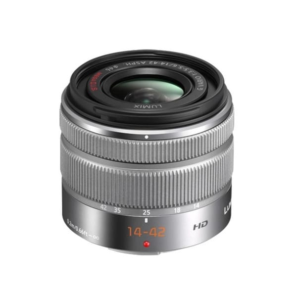 Panasonic Lumix G Vario 14-42mm F3.5-5.6 II ASPH. MEGA O.I.S. Standard Zoom Silver Lens (New Non Retail Packaging)