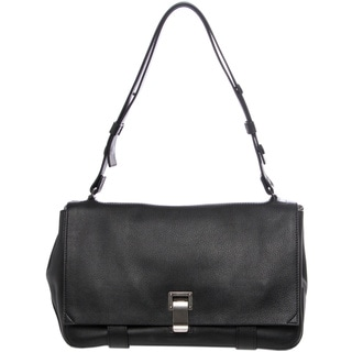 Proenza Schouler 'Courier' Black Leather Shoulder Bag
