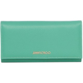 Jimmy Choo 'Nikita' Peppermint Grainy Calf Leather Wallet