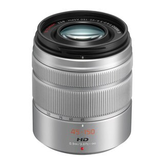 Panasonic Lumix G Vario 45mm-150mm f/4.0-5.6 ASPH Silver Lens (New Non Retail Packaging)