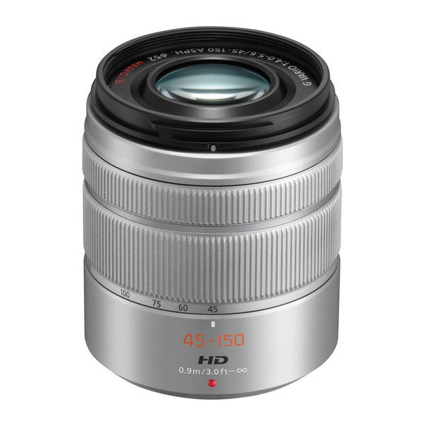 Panasonic Lumix G Vario 45mm-150mm f/4.0-5.6 ASPH Silver Lens (New Non Retail Packaging)