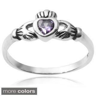 Tressa Collection Sterling Silver Cubic Zirconia Claddagh Ring
