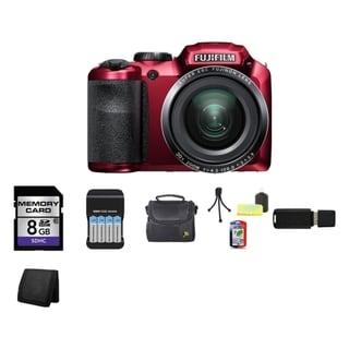 Fujifilm FinePix S4800 16MP Red Digital Camera 8GB Bundle