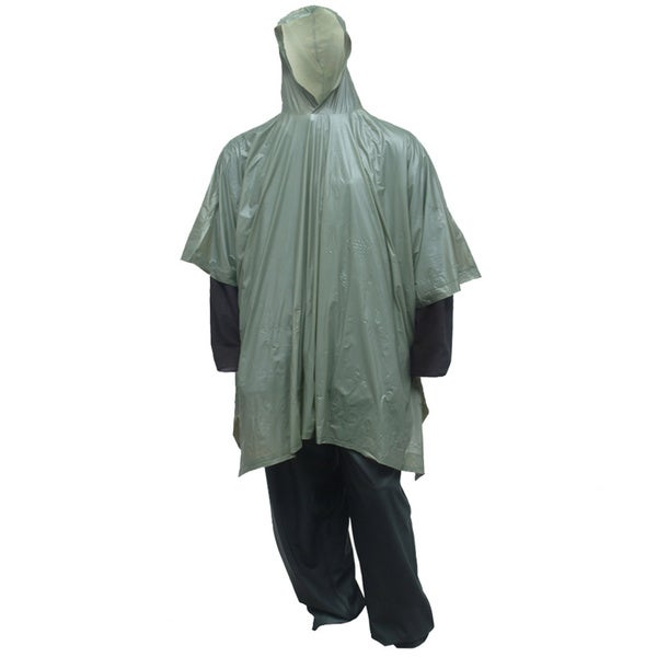 Green Hooded Poncho (One Size)