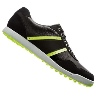 FootJoy Men's Contour Casual Spikeless Black/Lime Golf Shoes