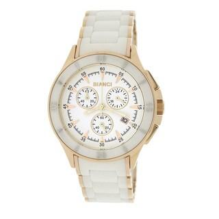 Roberto Bianci 5873U Rose Goldplated White Ceramic Chronograph Watch