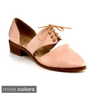 Refresh Women's 'Bank-1' Cut-out D'Orsay Flats