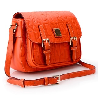 Dooney & Bourke Small Safari Orange Crossbody Handbag