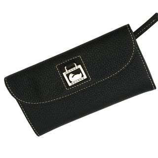 Dooney & Bourke 'Dillen II' Black Leather Continental Clutch
