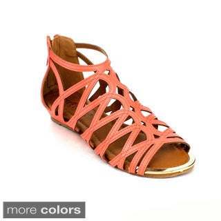 Cherish Women's 'Aggie-2' Flat Gladiator Sandals