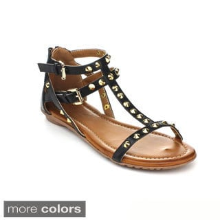 DBDK Women's 'Inga-3' Studded Gladiator Sandals