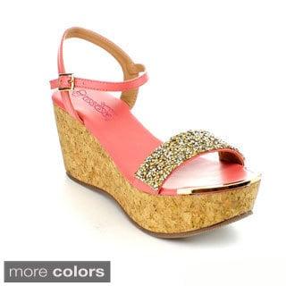 DBDK Women's 'Laveda-1' Rhinestone-embellished Platform Sandals