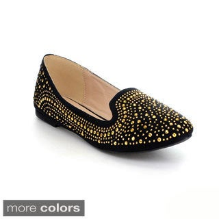 Mixx Shuz Women's 'Gloria' Studded Slip-on Flats